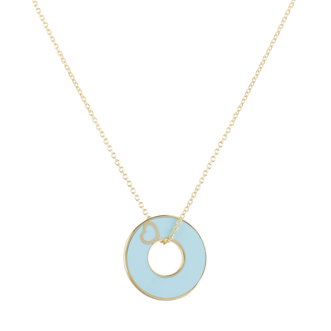 Forever In Love Yellow Gold Necklace