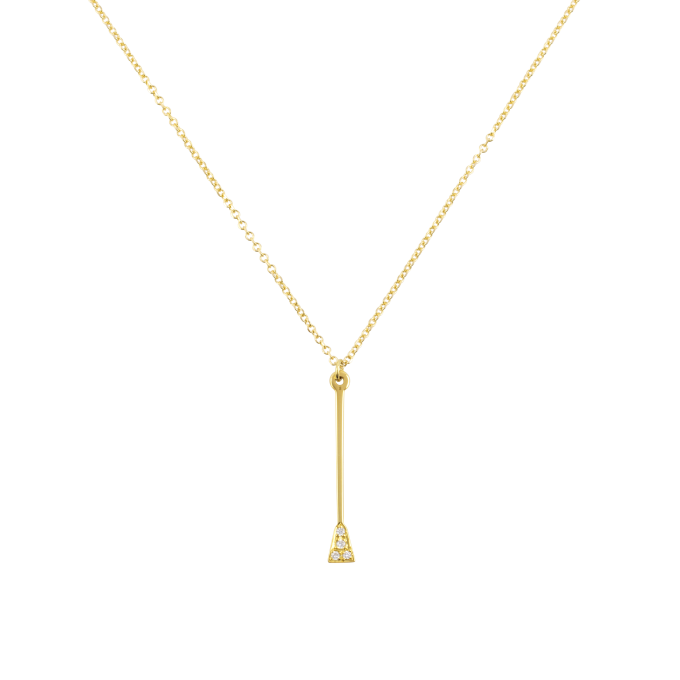 Diamond Whip Yellow Gold Necklace
