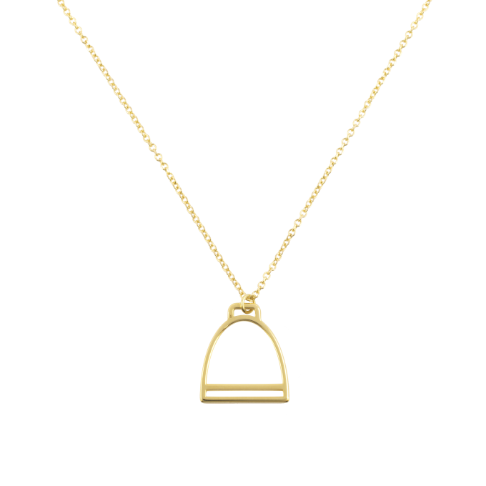 Stirrup Yellow Gold Necklace