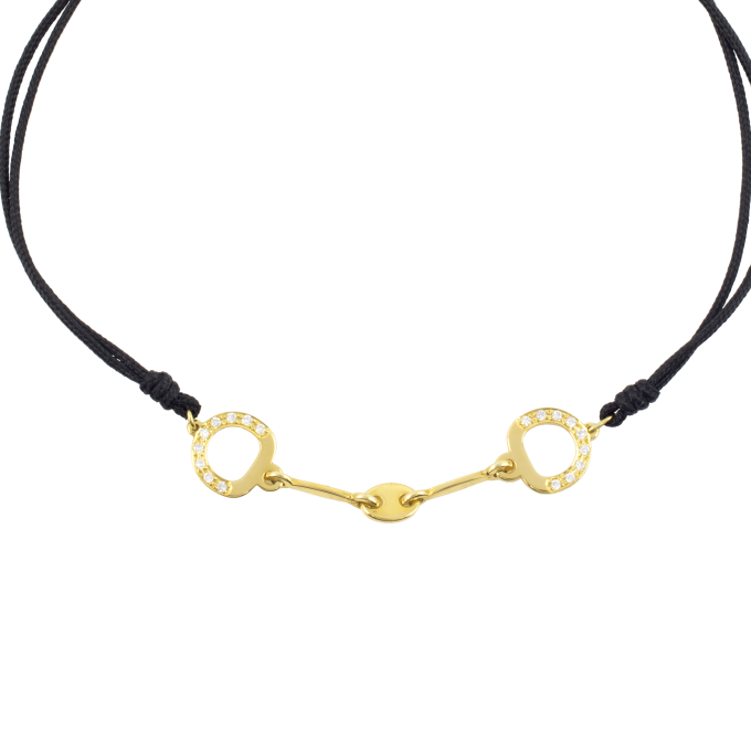 Precious and Easy Horse Bit Yellow Gold Bracelet