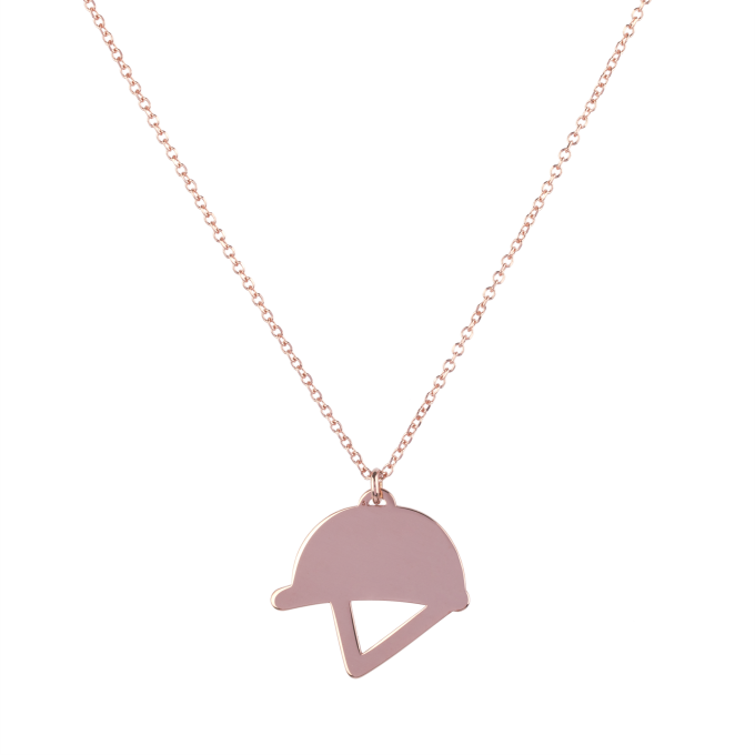 Helmet Pink Gold Necklace