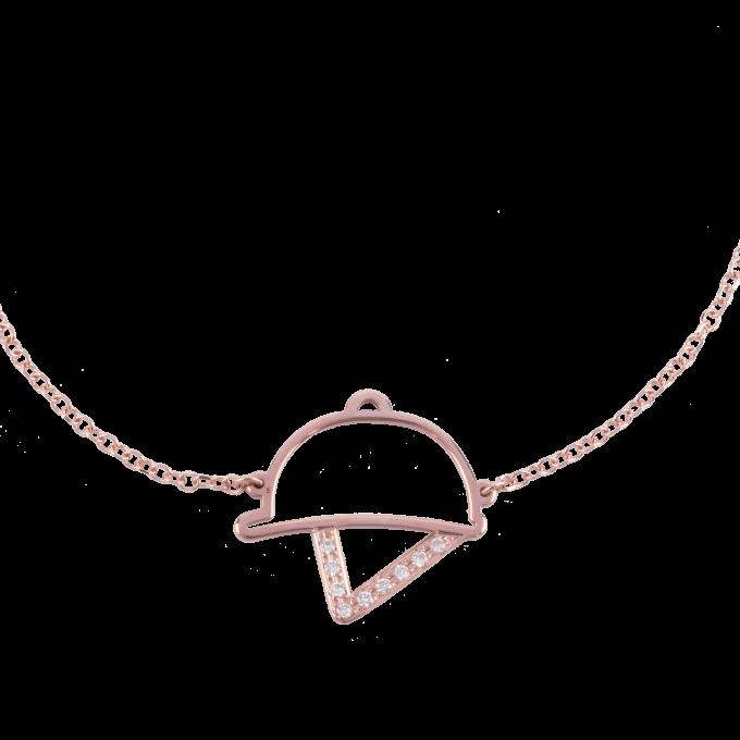 Diamond Helmet Pink Gold Bracelet