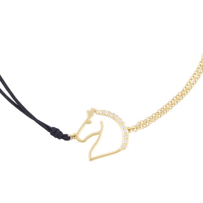 Precious and Easy Horse Yellow Gold Bracelet