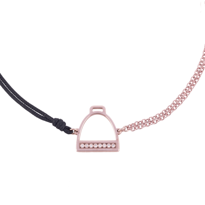 Precious and Easy Stirrup Pink Gold Bracelet