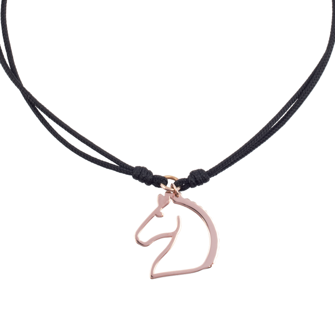 Nice and Easy Moving Horse Pink Gold Bracelet