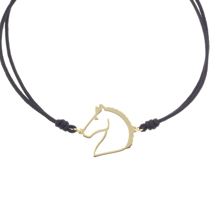Nice and Easy Horse Yellow Gold Bracelet