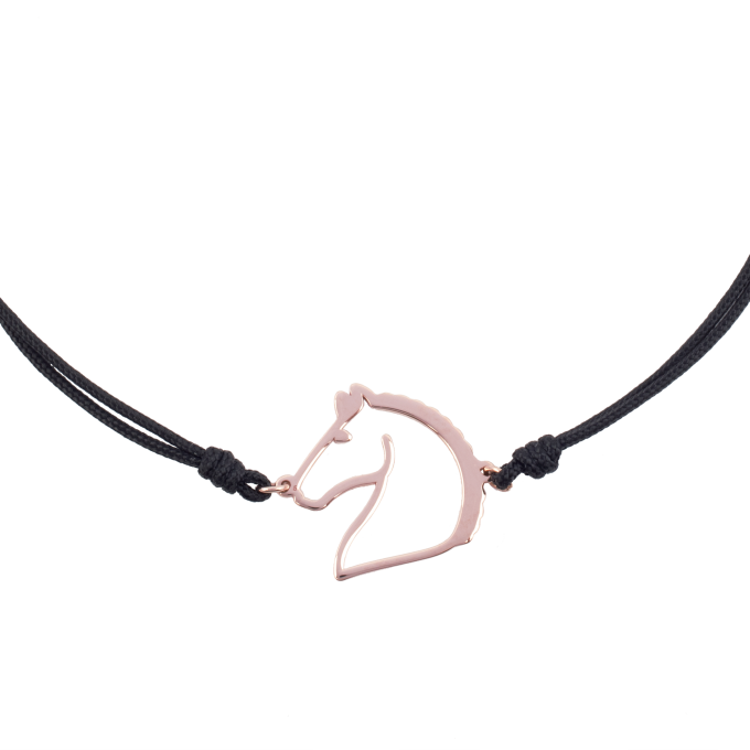 Nice and Easy Horse Pink Gold Bracelet