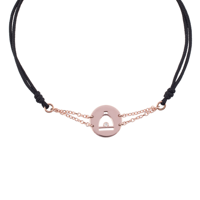 Precious and Easy Stirrup In Circle Pink Gold Bracelet