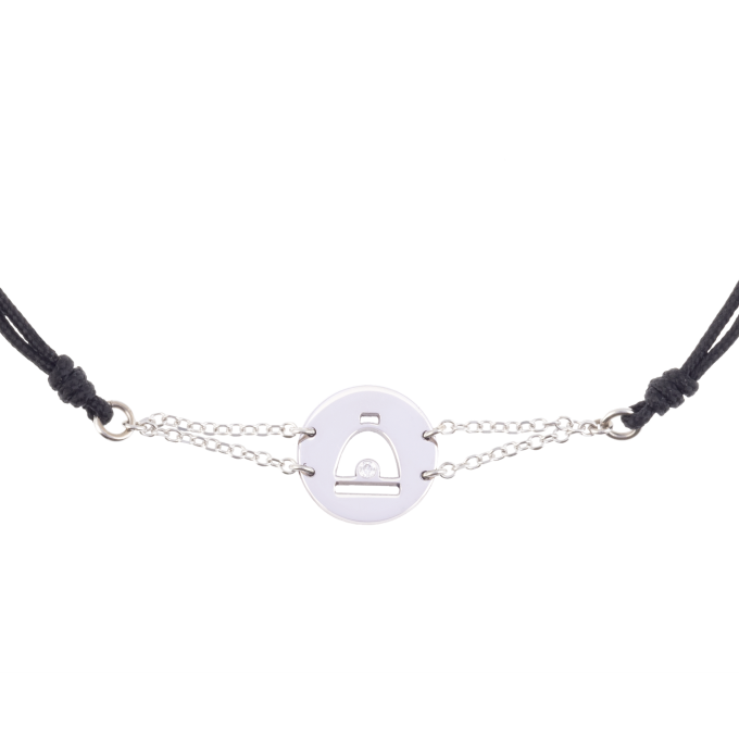 Precious and Easy Stirrup In Circle White Gold Bracelet