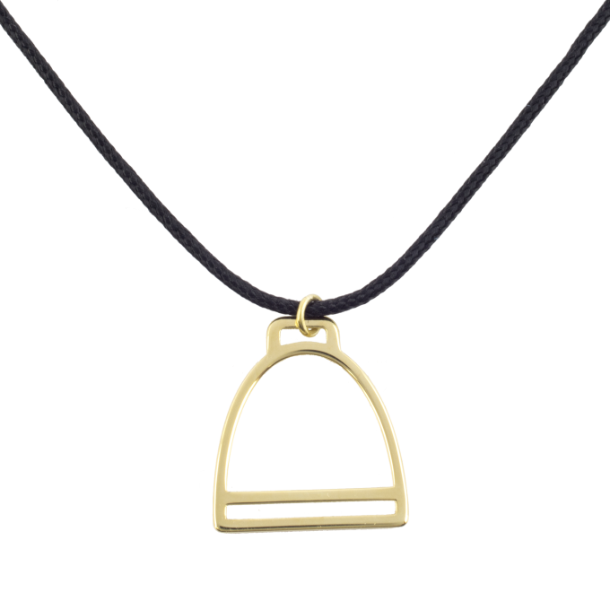 Nice and Easy Stirrup Yellow Gold Necklace