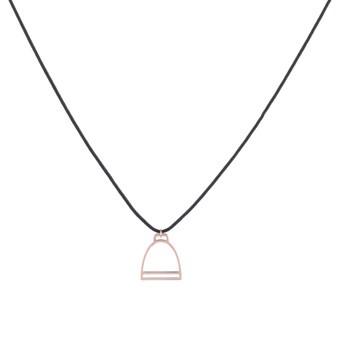 Nice and Easy Stirrup Pink Gold Necklace