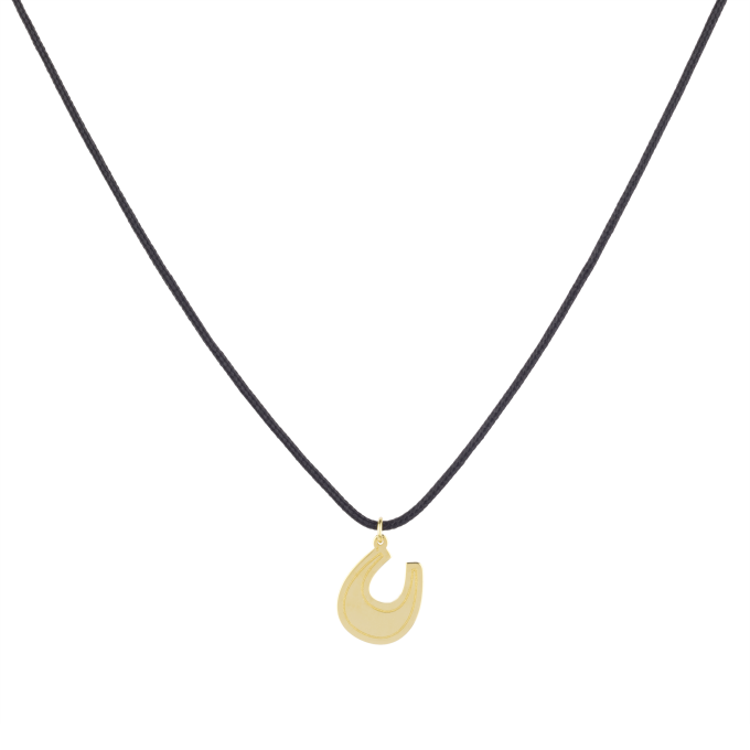 Nice and Easy Shiny Horseshoe Yellow Gold Necklace
