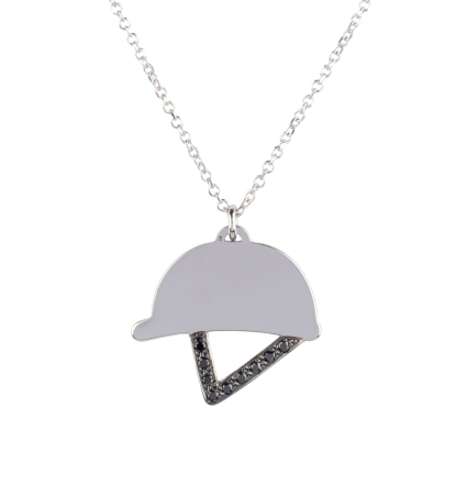 Black Diamond Helmet White Gold Necklace