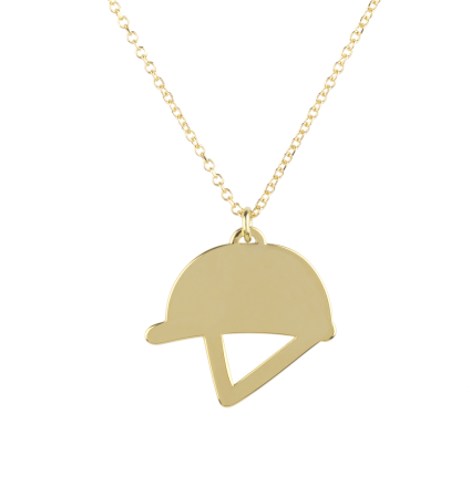 Helmet Yellow Gold Necklace