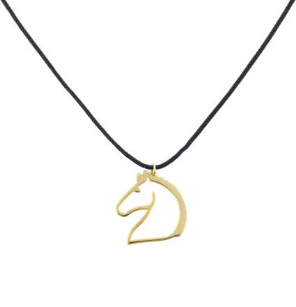 Nice and Easy Horse Yellow Gold Necklace
